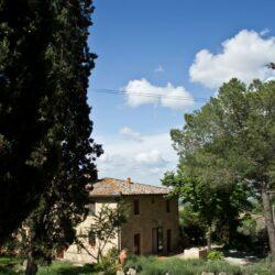 Der Agriturismo Il Castagnolino vom Eingang